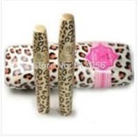 Makeup Leopard Print Mascara Set Waterproof Cosmetics Maquillage Long Lush Eyelash Eyelashes Love Alpha 1set=2pcs free shipping