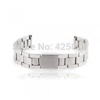Free Shipping 1 pcs Men Women 14mm Silver Alloy Watch Band Strap Bracelet Curved End