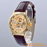 2014 Women's Analog Mechanical Wrist Watch Women Watch Steel Band Ladies Wrist Watch