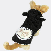 Retail Black Heart On Back Pet dogs Cotton coat  Free Shipping Dogs Clothes new clothing for dog