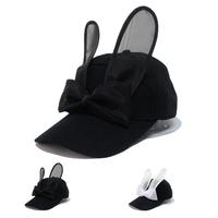 Rabbit Ears baseball cap, baseball cap cute trend Bow