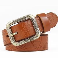 Cowhide women's genuine leather strap male all-match belt female fashion casual pants female Men belt waist belt