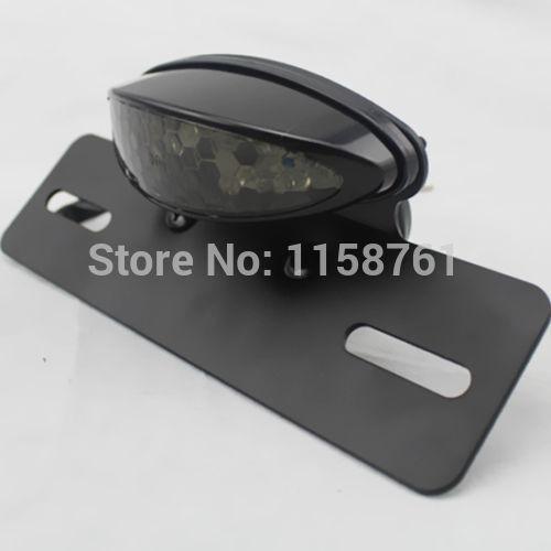 Free Shipping Motorcycle Rear Brake Stop Light License Plate Bracket LED Custom Tail Light(China (Mainland))