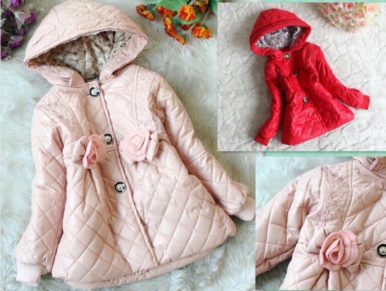 2014 new baby girls Coats kids outerwear Autumn Winter clothing Children Outerwear(China (Mainland))