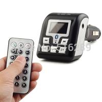 New Car Kit MP3 Player Bluetooth Phone FM Transmitter for SD/MMC/USB Card Black Free Shipping&Wireless