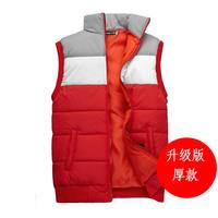2014 winter male men's clothing non-mainstream stand collar cotton vest slim fashion preppy style vest