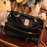 2014 new Kardashian Kollection tote bags rivet women leather handbags pu women messenger bags female fashion kk shoulder bag
