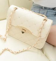 Hot summer 2014 handbags minimalist fashion Heart Quilted chain shoulder bag wholesale bolsa feminina mulheres mensageiro saco