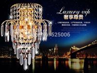Quality gold led crystal wall lamp wall lights e14*2 AC 85-265v Energy Saving indoor lighting