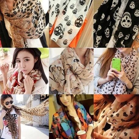 OVO!2014 New Fashion autumn -summer ice silk Scarf women winter warm Tassel Scarf Wrap Shawl scarves Lovers16styles(China (Mainland))