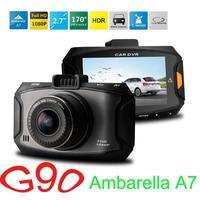 G90 car camera dvr recorder Ambarella A7 Dash cam 5 MP Full HD 2.7' LCD 170 Wide angle Lens Car DVR HDR G-Sensor video CAM