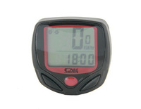 SD-548B Multi-Functional Bicycle Timer with Clock (Black)