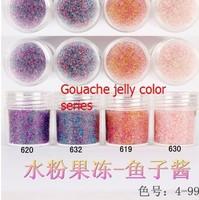 Boxed 10ml 50pcs/lot Brand New 2014 summer Mini Caviar Nail Art Polish Beads Manicures 3D Nail Art Gouache jelly color series