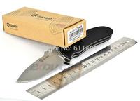 Ganzo G704 Black Color Folding Knife Camping Knife Hunting Knife EDC Pocket,G10 Handle.