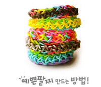 explosion models DIY color rubber band bracelet bracelet woven Kit loom bands Yiwu factory