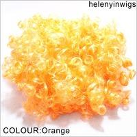 costume party wigs orange afro clown