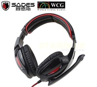 2014 New Arrivale game earphones headphones WCG Sades SA902 HI FI 7.1 Sound Channel with Microphone PC Headset Retail Box