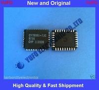 Free Shipping CY7B991-7JC CYPRESS IC CLK BUFFER 8:8 80MHZ 32 PIN PLCC