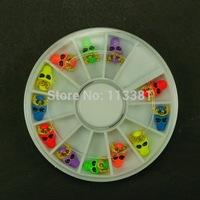 5pcs/lot Mix 6 Color Punk Rock Fluorescence Color 3D Halloween Party Nail Art Acrylic UV Gel Tips DIY Design Decir Accessories