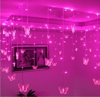3.5m Pink LED String Strip Holiday Light For PARTY FAIRY Christmas Wedding 100 SMD 16p Butterflies EU/US/AU/UK Plug 110V 220V