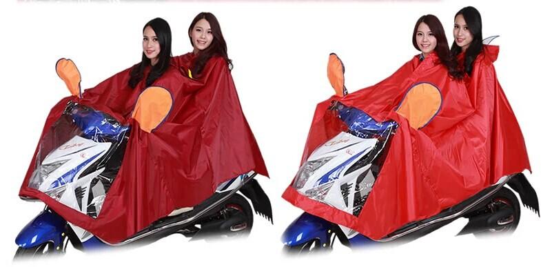 Huahai плащ электрическая велосипед плащ прозрачный большой краев шляпа двойной мотоцикл плащ пончо утолщение большой