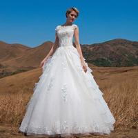 Urged 2014 bride vintage wedding dress slit neckline lace three-dimensional flower wedding dress 562