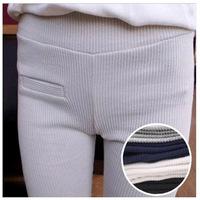 K803 Korea spring new cotton thread fake pocket leggings  pant feet was thin influx of women