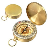 Free shipping Portable Outdoor Classic Brass Pocket Watch Style Compass for Camping & Hiking & Traveling