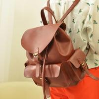 2014 mochila couro Leisure vintage girls Cozy genuine leather sweet Beautiful backpacks bags mochila couro feminina