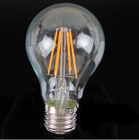 Led Lamp E27 220V 6W Filament Led Bulb E27 360 Degree 660Lm White Warm White Energy Saving Light Wholesale