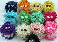 Free shipping matt stamen style 3000pcs/lot  wholesale 3mm Double tips Multicolor DIY pearl flower stamen