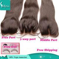 5A 3.5x4 straight human malaysian human virgin hair closure top closure human hair lace closure 3 way/free part closure pieces
