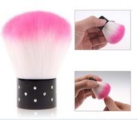 wholesale 2 pcs New Colorful Nail tools Brush For Acrylic & UV Gel Nail Art Dust Cleaner powder brush