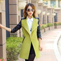 kSimple wool coat, autumn and winter long, 2013 new Korean wool coat