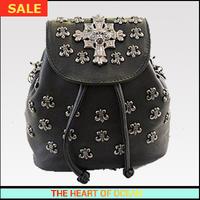 New Brand Summer PU Leather Women Backpacks Chain Cover Girl School Bag Duffed Bag Rivet Cross Sport Bag B207