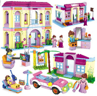 Building Blocks Toy for Girls The Holiday House Villa Shop Beach 3in1 Construction Educational Bricks Toys for Girls Compatible