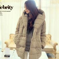 female winter wadded jacket medium-long berber fleece loose outerwear