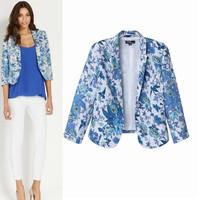 2014 New Fahion Women's Print Blazer And Jacket Three-Quater Suit For Women None Button Ladies' Desigual Brand Blazer wholesales