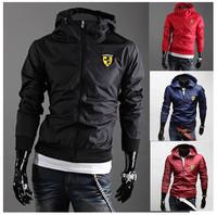 Free shipping 2014 men's cultivate one's morality fashion jacket / Men casual hooded Cardigan zipper coat / Men hoodies
