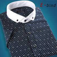 2014 summer male slim floral print short-sleeve shirt men's fashion casual shirt