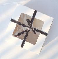 4-count White box cupcake cupcake box with insert 16cm*16cm*7.5cm ( 100 pieces)