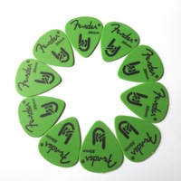 10pcs Guitar Picks Frosted Plectrums Thickness 0.88mm Green