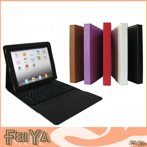Newest Business Bluetooth Keyboard Leather Case for iPad 4 3 2 Foldable Stand Smart Cover for iPad 2 iPad 3 iPad 4 with 7 colors(China (Mainland))