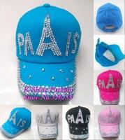 Top Quality Best Selling latest Design children snapback caps 2014 new fashion colorful child kids Paris rhinestone baseball cap