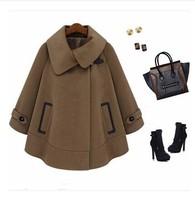 2014 woolen outerwear winter wool coat thickening plus size woolen overcoat women's