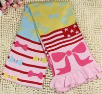 (1piece/lot)2014 Winter Cotton Children's Unisex Scarf Fashion Design Bow Pattern Mufflers
