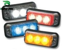 Four Colors Car 3*1W LED warning light 12V Car Truck strobe light LED flashing lamp emergency auto Light 1pcs/lot  KF-B6013