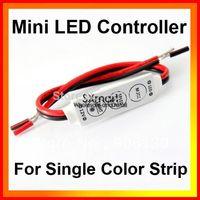 Wholesale DC 12V - 24V 144W Mini Sinlge Color 3528 5050 Strip LED Controller Dimmer 100pcs/lot