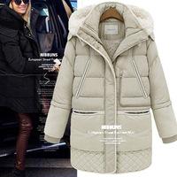 2014 berber fleece winter fashion down coat medium-long female plus size clothes down coat