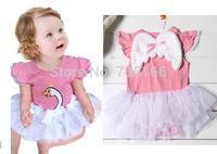 girls one-piece dress, kids Girl Princess  ,summer The angel girls romper ,Kids Clothes ,free shippingg